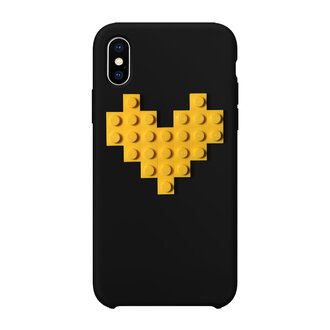 Кейс за iPhone с LEGO® елементи YELLOW HEART